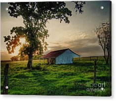 Acrylic Print featuring the photograph Old Shed by Savannah Gibbs