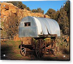 Old Sheepherder's Wagon Acrylic Print