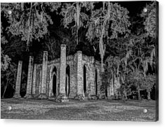 Old Sheldon Church At Night Acrylic Print