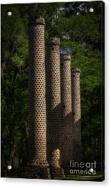 Old Sheldon Church Columns Acrylic Print