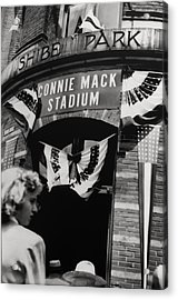 Old Shibe Park - Connie Mack Stadium Acrylic Print by Bill Cannon