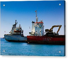 Acrylic Print featuring the photograph Old Ships by Kevin Desrosiers