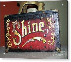 Old Shoe Shine Kit Acrylic Print by Pamela Walrath