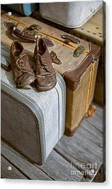 Old Shoes And Packed Bags Acrylic Print