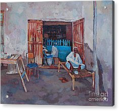 Old Shop Suakin Acrylic Print by Mohamed Fadul