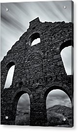 Old Slate Mill Acrylic Print by Dave Bowman