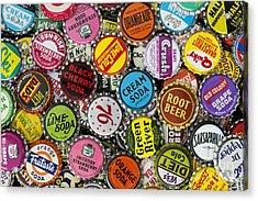 Old Soda Caps  Acrylic Print by Tim Gainey