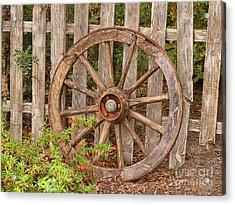 Old Spare Wheel Acrylic Print