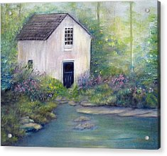 Old Springhouse Acrylic Print by Loretta Luglio