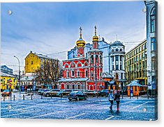 Old Square Of Moscow Acrylic Print by Alexander Senin