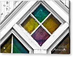 Old Stained Glass Windows Acrylic Print
