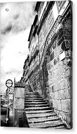 Old Stairs In Porto Acrylic Print by John Rizzuto
