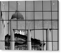 Old State Capitol Reflection Acrylic Print by Sue Houston