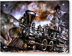 Old Steam Engine  Acrylic Print by Andrzej Szczerski