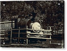 Old Steam Locomotive  Acrylic Print by Maria Angelica Maira