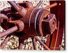 Old Steel Acrylic Print by Christopher Holmes