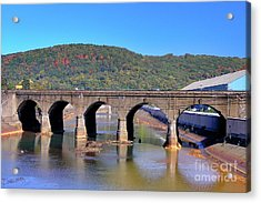 Old Stone Bridge - Johnstown Pa Acrylic Print