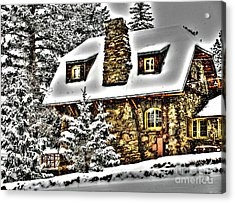 Old Stone Building Acrylic Print by Steven Parker