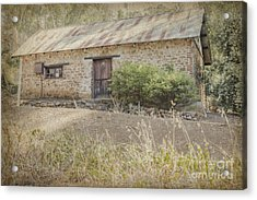 Old Stone Cottage Acrylic Print
