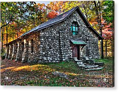 Old Stone Lodge Acrylic Print by Anthony Sacco