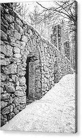 Old Stone Ruins  Acrylic Print by Edward Fielding