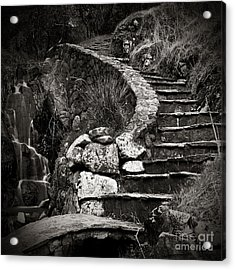 Old Stone Stairway Acrylic Print by Charmian Vistaunet