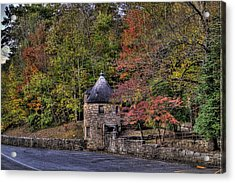 Acrylic Print featuring the photograph Old Stone Tower At The Edge Of The Forest by Jonny D