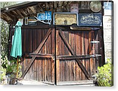 Old Storage Shed At The Swiss Hotel Sonoma California 5d24457 Acrylic Print by Wingsdomain Art and Photography