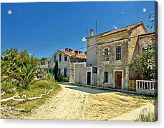 Old Streets Of Susak Island Acrylic Print