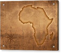 Old Style Africa Map Acrylic Print by Johan Swanepoel