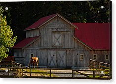 Acrylic Print featuring the photograph Old-style Horse Barn by Jordan Blackstone