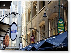 Old-style Signs Above A Melbourne Laneway Acrylic Print by David Hill