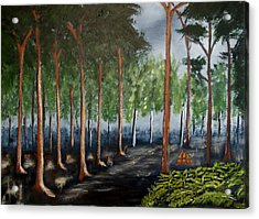 Acrylic Print featuring the painting Old Timber Road by Zeke Nord