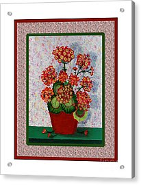 Old Time Geraniums Acrylic Print by Barbara Griffin