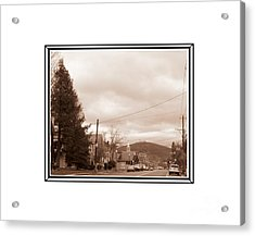 Old Time Main Street Acrylic Print