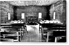 Old Time Religion -- Cades Cove Primitive Baptist Church Acrylic Print by Stephen Stookey