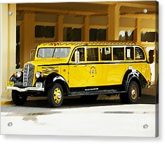 Old Time Yellowstone Bus Acrylic Print