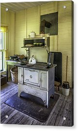 Old Timey Stove Acrylic Print by Lynn Palmer