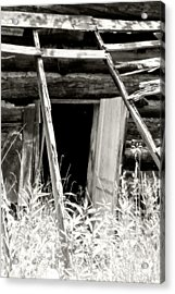 Old Tobacco Barn Acrylic Print by Michael Allen