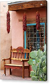 Old Town Albuquerque Shop Window Acrylic Print by Catherine Sherman
