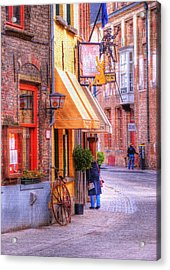 Old Town Bruges Belgium Acrylic Print by Juli Scalzi