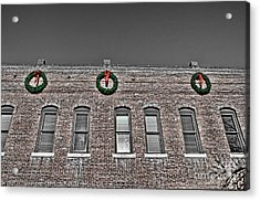 Old Town Christmas Acrylic Print by Baywest Imaging