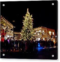 Old Town Christmas Tree Acrylic Print