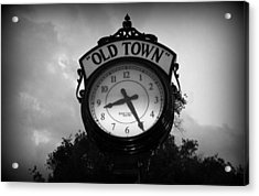 Old Town Clock Acrylic Print by Laurie Perry