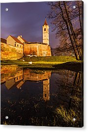 Old Town Acrylic Print by Davorin Mance