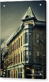 Old Town Fort Collins Acrylic Print by Julieanna D