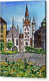 Old Town Hall Munich Germany Acrylic Print by Irina Sztukowski
