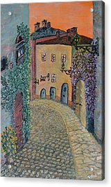 Acrylic Print featuring the painting Old Town In Piedmont by Felicia Tica