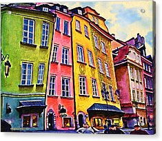 Old Town In Warsaw #4 Acrylic Print