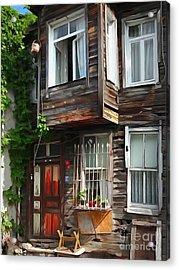 Old Town Istanbul Acrylic Print by Lutz Baar